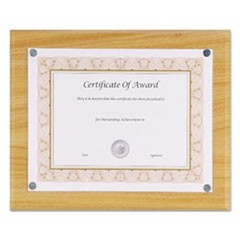 "Magnetic Series Woodgrain Plaque, Oak, 13""W, Rectangle"