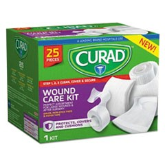 Wound Care Kit: Gauze, Non-Stick Pads and Paper Tape