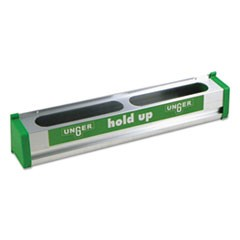 Hold Up Aluminum Tool Rack, 18w x 3.5d x 3.5h, Aluminum/Green