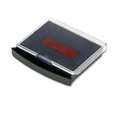 Replacement Ink Pad for 2000 PLUS Two-Color Word Daters, Blue/Red
