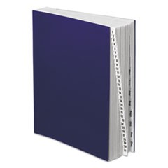 Expanding Desk File, 1-31/Jan-Dec, Letter, Acrylic-Coated Pressboard, Dark Blue