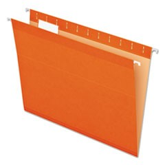 Reinforced Hanging Folders, 1/5 Tab, Letter, Orange, 25/Box