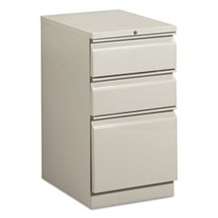 Mobile Box/Box/File Pedestal, 15w x 20d x 28h, Gray
