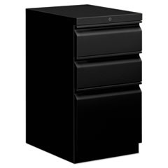 Mobile Box/Box/File Pedestal, 15w x 20d x 28h, Black
