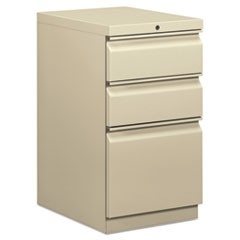Mobile Box/Box/File Pedestal, 15w x 20d x 28h, Putty