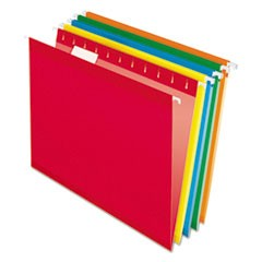 Reinforced Hanging Folders, 1/5 Tab, Letter, Assorted, 25/Box