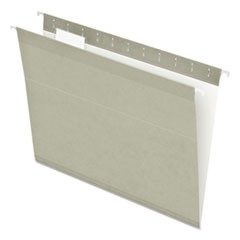 Colored Reinforced Hanging Folders, Letter, 1/5 Tab, Gray, 25/Box