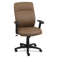 High-Back Swivel/Tilt Chair, Taupe/Black