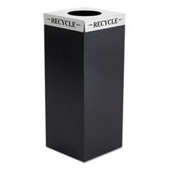 Square-Fecta Lid, Recycle, 15.5w x 15.5d x 3h, Silver