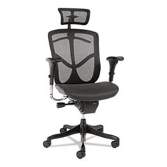 Alera EQ Series Headrest, Mesh, Black