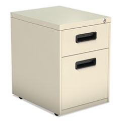 Two-Drawer Metal Pedestal File, 14.96w x 19.29d x 21.65h, Putty
