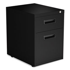 Two-Drawer Metal Pedestal File, 14.96w x 19.29d x 21.65h, Black