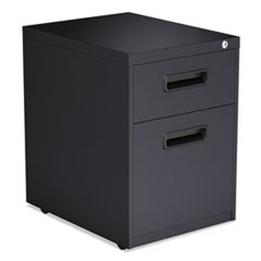 Two-Drawer Metal Pedestal File, 14.96w x 19.29d x 21.65h, Charcoal