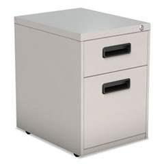 Two-Drawer Metal Pedestal File, 14.96w x 19.29d x 21.65h, Light Gray