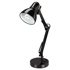 Alera Architect Desk Lamp, Adjustable Arm, 6.75 W X 11.5 D X 22 H, Black