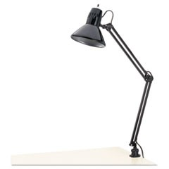 Alera Architect Lamp, Adjustable, Clamp-On, 6.75 W X 20 D X 28 H, Black