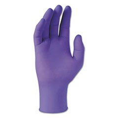 PURPLE NITRILE Exam Gloves, 242 mm Length, X-Small, 6 mil, Purple, 100/Box