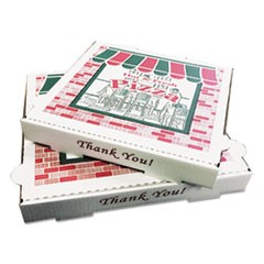 Takeout Containers, 10in Pizza, White, 10w x 10d x 1 3/4h, 50/Carton