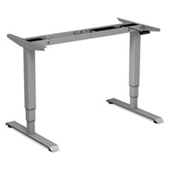 "AdaptivErgo 3-Stage Electric Table Base w/Memory Controls, 25"" to 50 3/4"", Gray"
