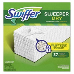 "Dry Refill Cloths, White, 10 2/5"" x 8"", 37/Box, 4 Box/Carton"