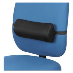Lumbar Backrest, 14.38w x 4.75d x 6.25h, Black