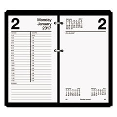 Large Desk Calendar Refill, 4 1/2 x 8, White, 2017