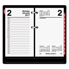 Desk Calendar Refill with Tabs, 3 1/2 x 6, White, 2017