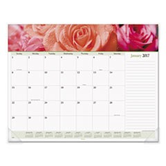 Floral Panoramic Desk Pad, 22 x 17, Floral, 2017
