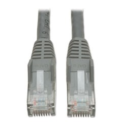 Cat6 Gigabit Snagless Molded Patch Cable, RJ45 (M/M), 5 ft., Gray