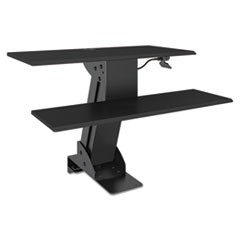 AdaptivErgo Sit-Stand Lifting Workstation, 31 1/2 x 40 x 20, Black