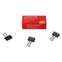 "Mini Binder Clips, 1/4"" Capacity, 5/8"" Wide, Black, 12/Box"