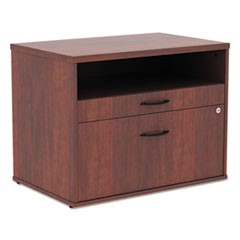 Alera Open Office Series Low File Cabient Credenza, 29.5w x 19.13d x 22.88h, Medium Cherry