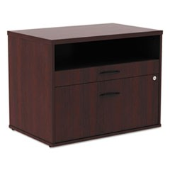 Alera Open Office Series Low File Cab Cred, 29 1/2 x 19 1/8 x 22 7/8, Mahogany