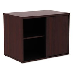 Alera Open Office Low Storage Cab Cred, 29 1/2w x 19 1/8d x 22 7/8h, Mahogany