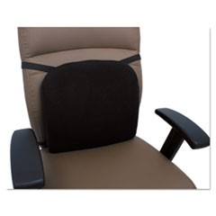 Cooling Gel Memory Foam Backrest, 14.13 x 14.13 x 2.75, Black