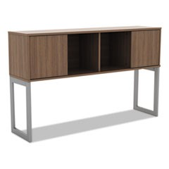 Alera Open Office Desk Series Hutch, 59w x 15d x 36.38h, Modern Walnut