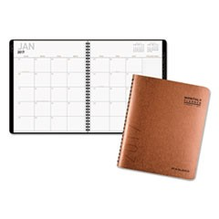 Contemporary Large Monthly Copper Planner, 8 7/8 x 11, Copper, 2018