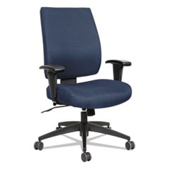 Alera Wrigley Series High Performance Mid-Back Synchro-Tilt Task Chair, Blue
