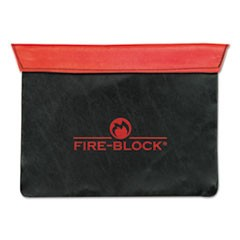 Fire-Block Document Portfolio, 12 1/2 x 10 x 1/2, Red/Black