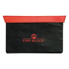 Fire-Block Document Portfolio, 15 1/2 x 10 x 1/2, Red/Black