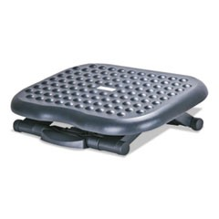 Relaxing Adjustable Footrest, 13.75w x 17.75d x 4.5 to 6.75h, Black