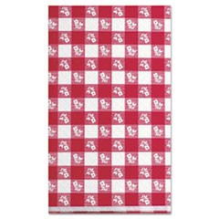 "Paper Table Cover, 40"" x 300ft, Red Gingham"