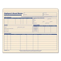 Employee Record Master File Jacket, Straight Tab, Letter Size, Manila, 20/Pack