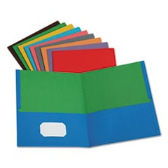 Twisted Twin Pocket Folder, 100-Sheet Capacity, Assorted