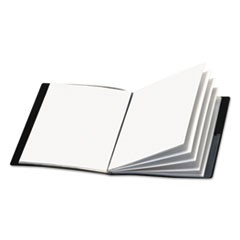 Cardinal Showfile Display Book W/Custom Cover Pocket, 24 Letter-Size Sleeves, Black