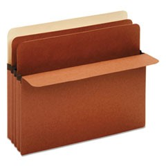 Divider Pockets, 2 Dividers, Redrope, 3 Pockets, Straight Cut, Letter, Brown