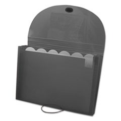 Expanding Files, Letter, 7-Pocket, Smoke