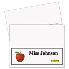 Printer-Ready Name Tent Cards, 11 x 4 1/4, White Cardstock, 50 Letter Sheets/Box