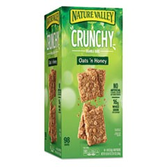 Granola Bars, Oats and Honey, 1.5 oz Bar, 49/Carton