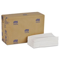 Universal Tall-Fold Dispenser Napkins, 1-Ply 6x13 1/2, Bag-Pack, White, 10000/Ct
